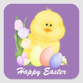 Happy Easter chick Holiday sticker