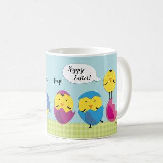 Happy Easter Chicks Add Name Coffee Mug