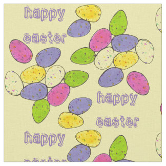 Happy Easter Chocolate Malted Egg Candy Fabric