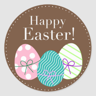 Happy Easter Classic Round Sticker
