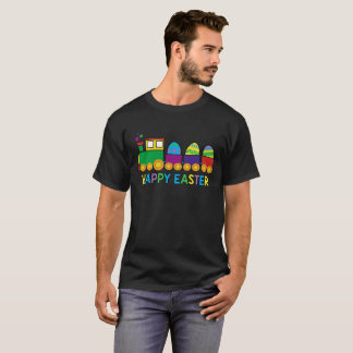 Happy Easter Colorful Eggs Train Holiday Tee