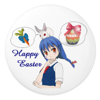 Happy Easter (Customizable) Ceramic Knob