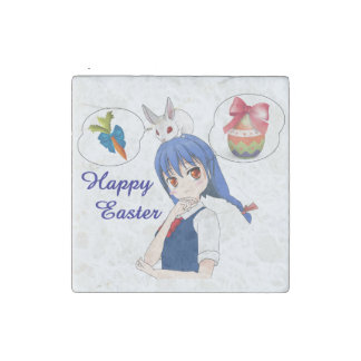 Happy Easter (Customizable) Stone Magnet