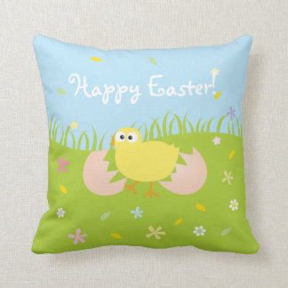 Happy Easter Cute Baby Chick Cushion