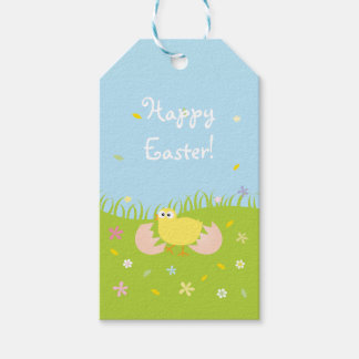 Happy Easter Cute Baby Chick Gift Tags
