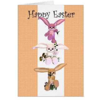 Happy Easter cute bunnies Greeting Card