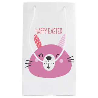 Happy Easter | Cute Bunnies Small Gift Bag