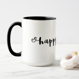 Happy Easter Cute Elegant Typography Text Only Mug