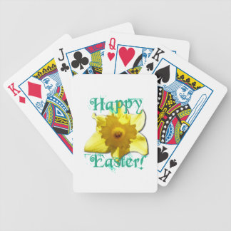 Happy Easter, Daffodil 01.2.T Bicycle Playing Cards