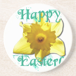 Happy Easter, Daffodil 01.2.T Coaster