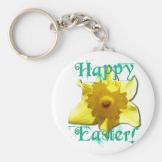Happy Easter, Daffodil 01.2.T Key Ring