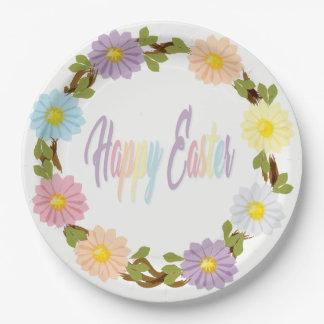 Happy Easter Daisy Plates
