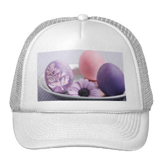 Happy Easter Decorated Eggs Designs Trucker Hat