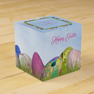 Happy Easter - Decorated Eggs Floral Photography Favour Box