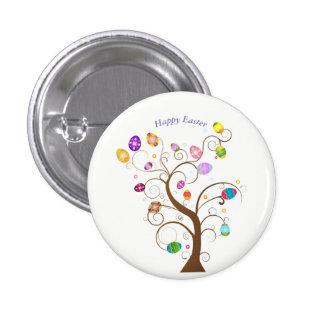 happy Easter Decorative tree eggs 3 Cm Round Badge