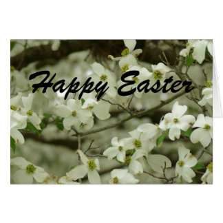 Happy Easter Dogwood Branch Card