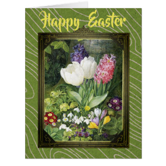 Happy Easter Dutch Spring Botanical Flowers Card