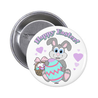 Happy Easter Easter Bunny Buttons