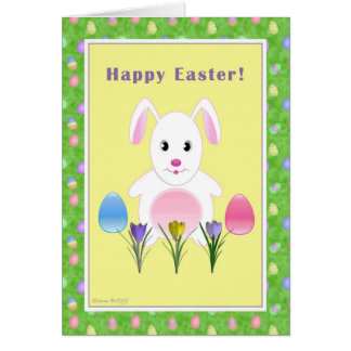 Happy Easter - Easter Bunny - For Child Greeting Card