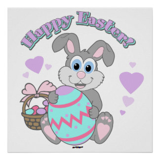 Happy Easter Easter Bunny Posters