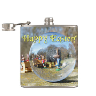 Happy Easter! Easter Bunny school 02.0.T Hip Flask