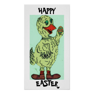 HAPPY EASTER EASTER DUCK poster