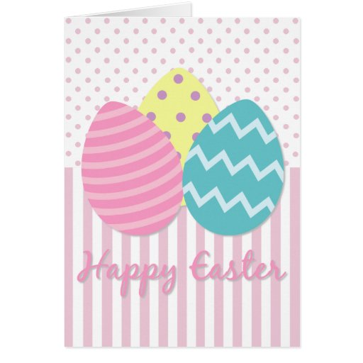 Happy Easter Easter Eggs Card