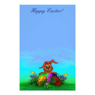 Happy Easter! Easter Rabbit Custom Stationery