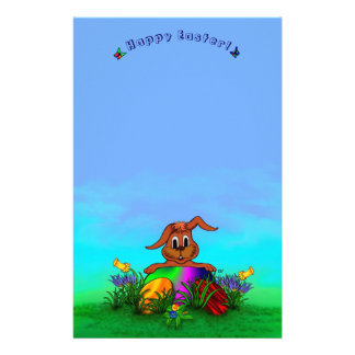 Happy Easter! Easter Rabbit Personalised Stationery