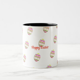 Happy Easter Egg Two-Tone Coffee Mug