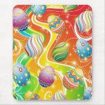 Happy Easter Eggs Ornamental Design Mousepad