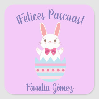 Happy Easter/Felices Pascuas Spanish Sticker
