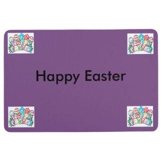 happy easter floor mat