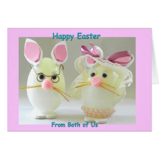 Happy Easter from Both of Us Bunny Couple 2 Card