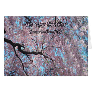Happy Easter from Both of Us Pink Cherry Blossoms Card