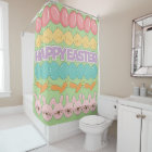 Happy Easter Fun Shower Curtain