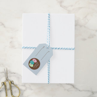 Happy Easter Gift Tag With Eggs