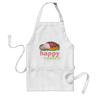 Happy Easter Glazed Sliced Ham Dinner Foodie Apron