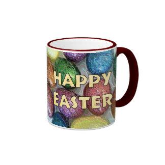 Happy Easter Glitter Eggs Coffee Mug