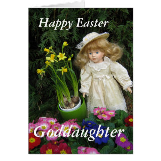 Goddaughter easter gifts t shirts art posters other gift happy easter goddaughter card negle Image collections