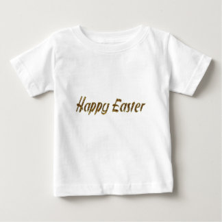 Happy Easter Gold Glitter Style Typography Elegant Baby T-Shirt