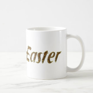 Happy Easter Gold Glitter Style Typography Elegant Coffee Mug