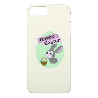 Happy Easter! Gray Bunny iPhone 7 Case