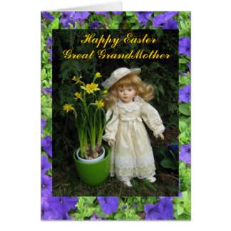 Happy Easter Great Grandmother Greeting Card