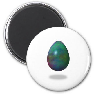 Happy Easter! - Green Egg 6 Cm Round Magnet