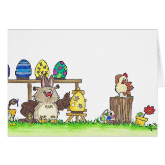 HAPPY EASTER greeting card by Nicole Janes