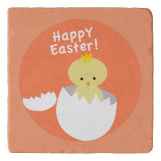 Happy Easter Hatching Chick Trivet