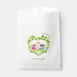 Happy Easter Heart Nose Puppies Cartoon Favour Bag