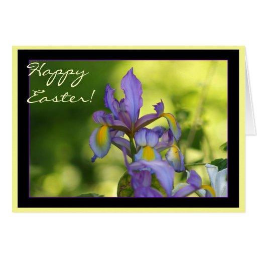 Happy Easter Iris Greeting Card