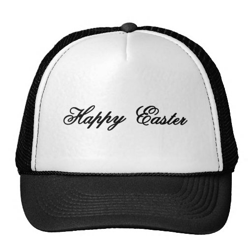 Happy Easter l Black The MUSEUM Zazzle Gifts Mesh Hats